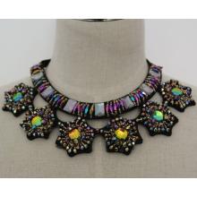 Senhoras moda cristal charme robusto traje Bib colar gargantilha colar (jE0021)
