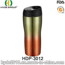 BPA Free Stainless Steel Travel Coffee Mug with Screw Lid (HDP-3012)
