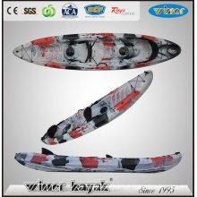 2 + 1 Assentos Pesca Familiar Kayak Oceano com Pás