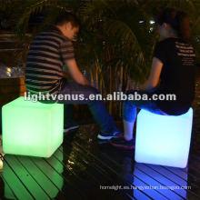 40 * 40 * 40 cm Color cambiante LED silla