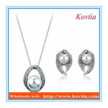 Bijoux en perles élégantes et indiennes ensemble de crémaillère et pendentifs de costumes