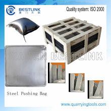 Stahl-Marmor-Block-Push-Tasche für den Steinbruch
