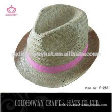 Пользовательские дешевые соломенные шляпы Fedora