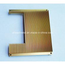 Aluminio CNC mecanizado de piezas de aluminio del radiador