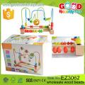 Brinquedos educativos para crianças Brinquedos de madeira Fornecedor OEM / ODM Padrões de animais e frutas Impressão de contas de madeira para bebê
