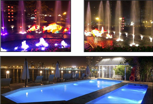 underwater led fountain light