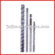 Single extruder screw barrel for PVC