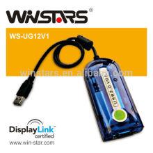 Adaptador de exibição USB2.0 para VGA. Adaptador de rede 3G, placa gráfica USB 2.0