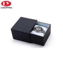 boîte de montre de tiroir de logo personnalisé de luxe pour hommes