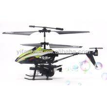 Los mejores regalos para los niños 3,5 canales de metal rc helicóptero con la función de burbujas de soplado