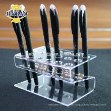 Jinbao personalizar claro acrílico estante acrílico pluma titular 3mm MOQ precio