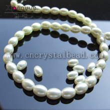 wholesale false oval Glass Pearls