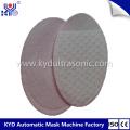 Tampon en coton semi-rond cosmétique ultrasonique faisant la machine