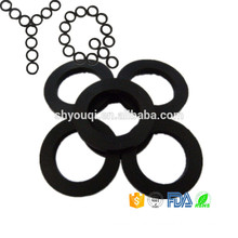 Rubber Flat Gasket o ring Shape Seal pad High Heat resistance PTFE insulating washer NBR Gaskets