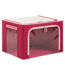 Sac de rangement imperméable en nylon maison Boîte de rangement pliable rouge