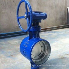 worm gear /turbine drive wafer butterfly valve
