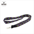 Full Color Design Sublimation Printing Lanyard with Metal Clip