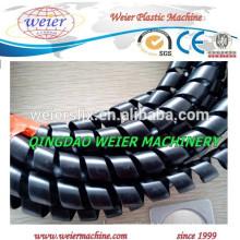 entrega para Itália de PE PP espiral protectora da tubulação máquina