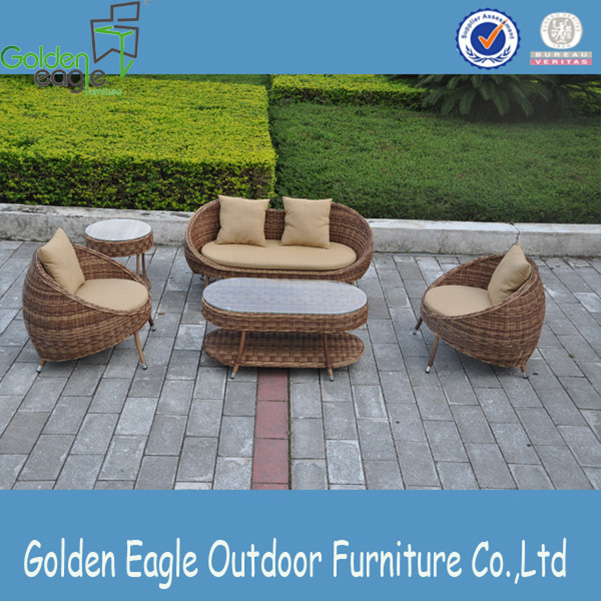 aluminium PE wicker patio furniture