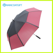 30inch Double Canopy Winddicht Gerade Golfschirm