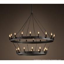 Retro Restaurant Ferruginous Industrial Pendant Light (GD1181-12+18)