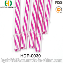 Double Color PP Hard Plastic Drinking Straw with Printing