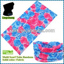 LSB125 Ningbo 100%Polyester Multi Tube Scarf Hair seamless bandana