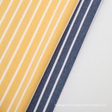 tissu de couverture polaire micro-velours polyester rayé coloré