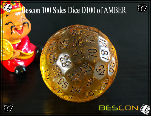 Bescon 100 Sides Dice D100 of AMBER-3