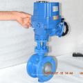 Qualitätsmetalldichtung ss304 drei exzentrische Drosselklappe mit elektrischem Antrieb