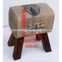 Industrial y Vintage Taburetes de madera 3 Taburetes