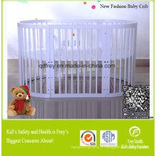 Nouveau meuble à lit de bébé en bois de pin de bébé