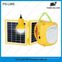 Lanterna solar 4500mAh / 6V qualificada com carregador do telefone móvel com a ampola solar para o quarto