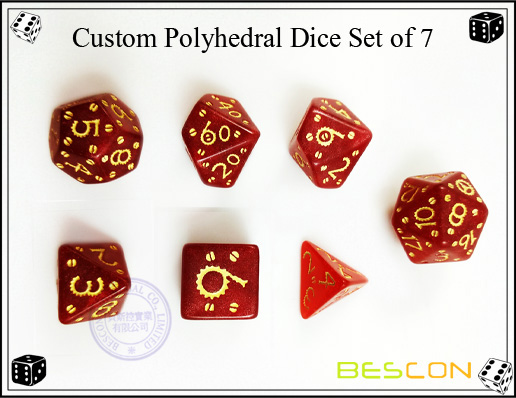 Custom Polyhedral Dice Set of 7