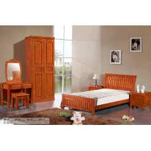 Alta calidad dormitorio muebles, cama madera, cama de Hotel (201)
