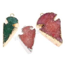 Gets.com pendentif en flèche en agate coloré