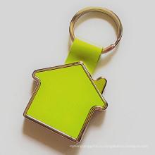 Промотирование Keyring подарка дома сплава цинка с логосом клиента (F1023)