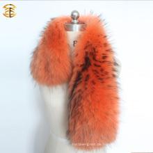 Gefärbte große Waschbär-Kragen-Pelz-Ordnung für Wintermantel Parka