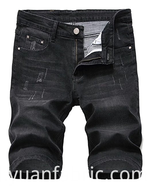 519men S Cotton Blended Slim Denim Shorts