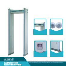 Seguridad Visual Alarma audible Archway detector de metales con doble infrarrojos