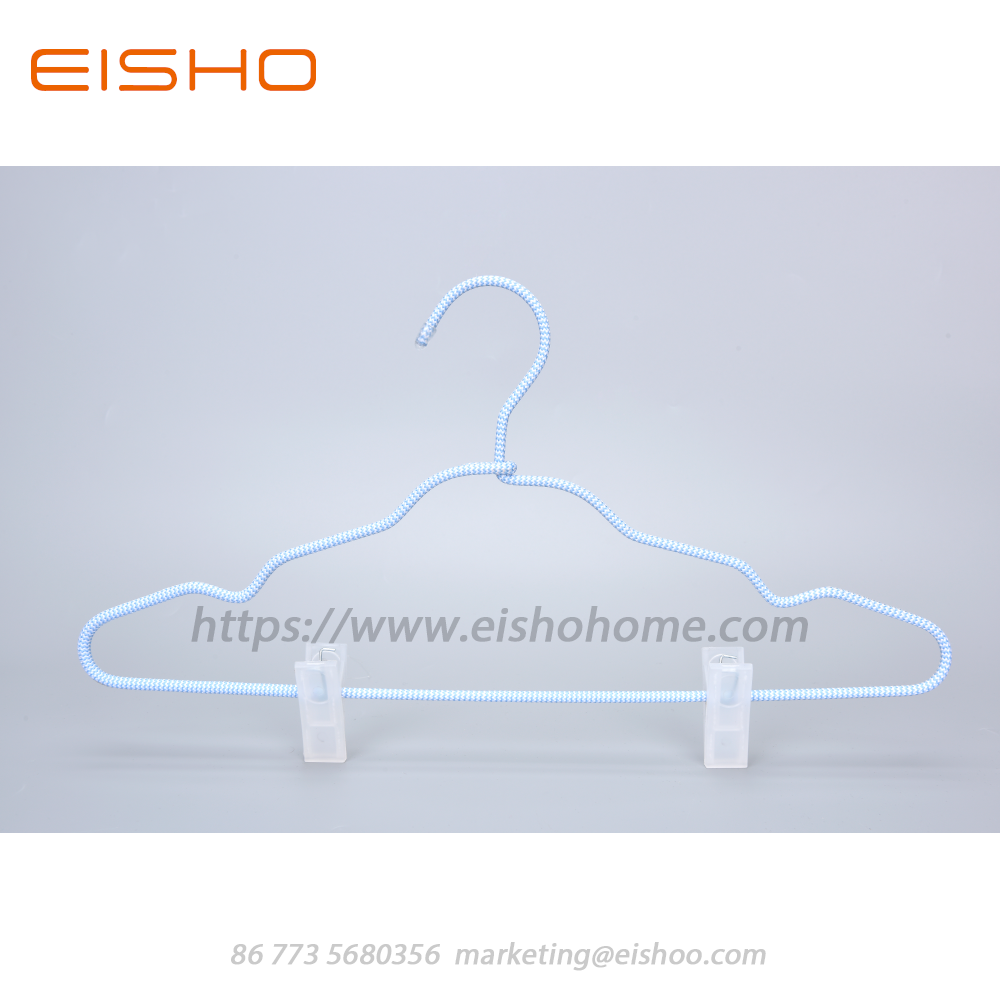 16 Eisho Cord Covered Coat Hangers With Clips