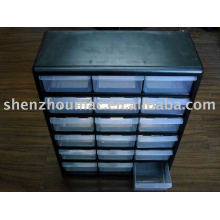 plastic tool box with 18 drawers
