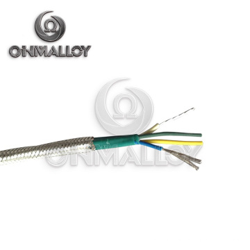 4X24AWG Typ J Thermocuple Kabel Fiberglas Insolation mit Edelstahl Braid Shield