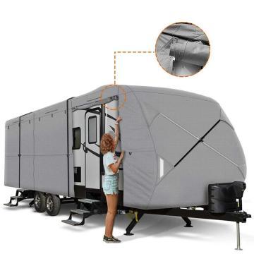Travel Trailer RV Cover 230T Ripstop Diamond GRIS