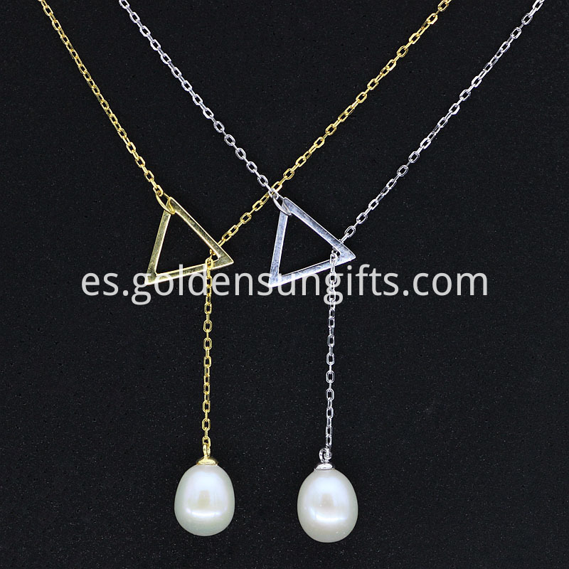 925 sterling silver Pearl Pendant Necklace