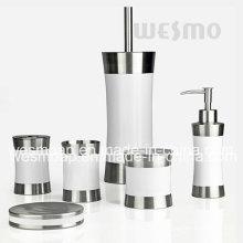 Ensemble de bain en caoutchouc en acier inoxydable (WBS0509F)