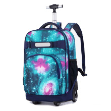 luggage Removable Hand Trolley Luggage Wheeled Backpack Rolling Backpacks 2 Wheels