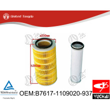 B7617-1109020-937 Original Yuchai engine air filter for Chinese truck