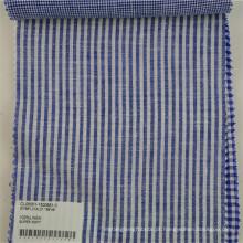 Linho macio tecido de impressão listra para camisa vestido de vestuário