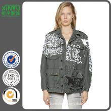 2016 Graffiti Tag Cotton Canvas Field Jacket